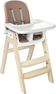 OXO Tot Sprout Chair with Tray Cover, Taupe and Birch