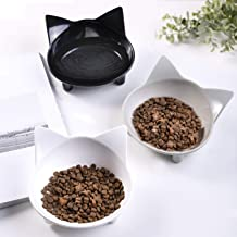 Cat Food Bowls Non Slip Shallow pet Water Bowl Cat Dish,Feeding Wide Bowls to Stress Relief of Whisker Fatigue Pet Bowl of Cats Rabbits