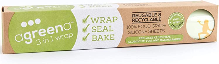 Agreena Reusable Silicone 3 in 1 Wraps, Seals, Bakes. Food Grade. No More Single use Plastic, Baking Paper or tinfoil! Eco Friendly.
