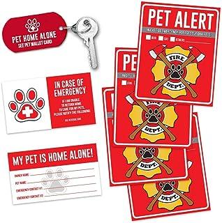 "Pet Alert Fire Rescue Sticker - (4) 5"" x"