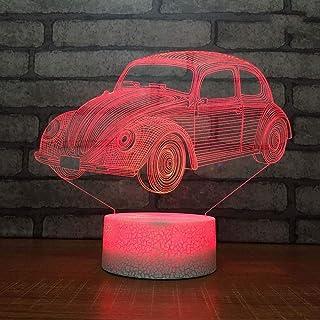 Décoration de la Maison LED 7 Changement de Couleur 3D USB Lampe de Bureau éclairage de Sommeil décor créatif nouveauté Ac...