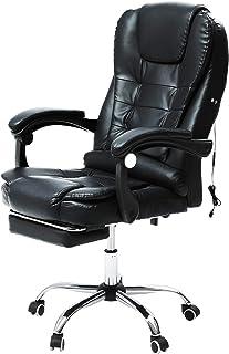 VONLUCE Chaise de Bureau avec Massage, Fauteuil de Bureau Pivotante, Chaise en Cuir PU avec Fonction Massage Réglable en H...