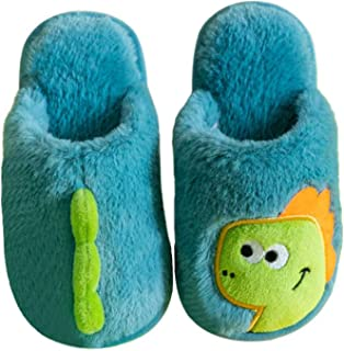 Zapatillas Estar Casa para Niños Niñas Invierno Lindo Zapatos Interior Dinosaurio de Dibujos Animados Zapatilla para