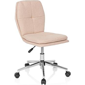 hjh OFFICE 670942 Kinder Schreibtischstuhl Joy I Stoff Beige moderner Drehstuhl, bequem gepolstert, höhenverstellbar