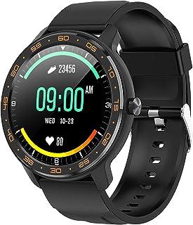 Tititek wb03 Reloj inteligente para teléfonos Android e iOS, reloj inteligente redondo para fitness, IP68, natación, imper...