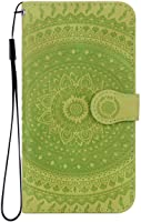 Reevermap iPhone 7/ iPhone 8 Case Leather, Protective Wallet Flip Embossed Mandala Premium Kickstand Magnetic Buckle Notebook Cover for iPhone 7/ iPhone 8, Green