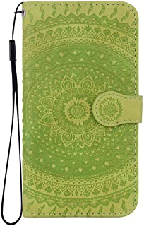 Reevermap Samsung Galaxy S10 Version Case Leather  Protective Wallet Flip Embossed Mandala Premium Kickstand Magnetic Buckle Notebook Cover for Samsung Galaxy S10 Version  Green