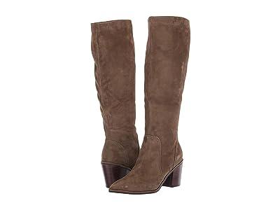 Cole Haan Willa Boot 75 mm (Berkshire Suede/Dark Brown Semi Shine Stack) Women