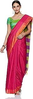 PERFECTBLUE Women`s Tussar Silk saree with Blouse Piece(San9aBLine)