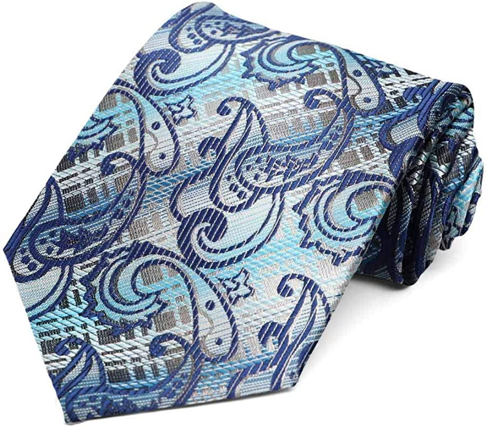 TieMart Special Purchase Tie and Pocket Square Set in Marion