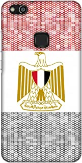 AMZER Slim Fit Handcrafted Designer Printed Snap On Hard Shell Case Back Cover for Huawei P10 Lite - Egypt Flag- Shapes HD...