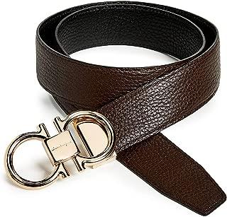 Men's Rose Gold Double Gancio Reversible Belt