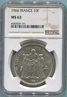1966 FR France 10 Franc MS63 NGC