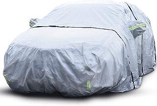 Capa para carro, 6 camadas à prova d'água, capa para todos os climas para automóveis, material de algodão PEVA+/proteção U...
