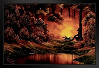 bob ross fire painting