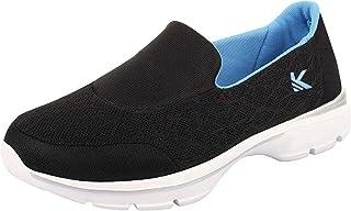 KazarMax Women's Black & Turquoise Slipon's Walking Sneakers/Shoes