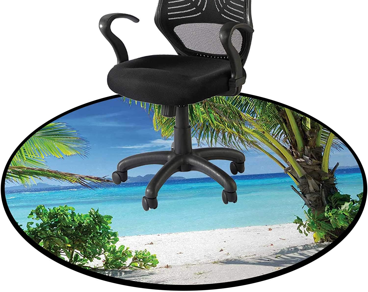 Green Aqua Coconut Ranking TOP7 Dealing full price reduction Office Swivel Polyester Chair Fi Tropical Mat