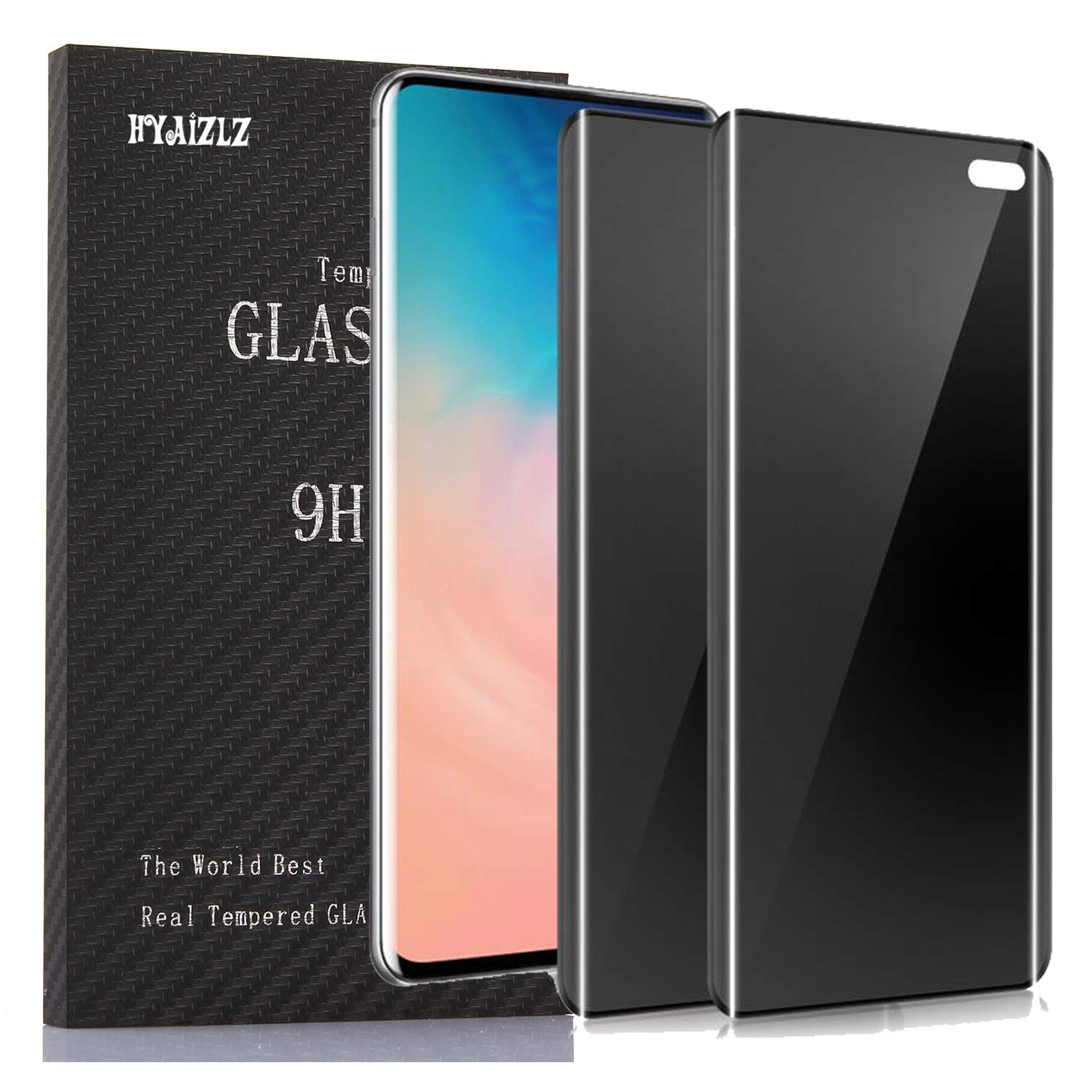 3 Pack Anti Spy 9H Hardness Bubble Free Privacy Tempered Glass Screen Protector for Samsung Galaxy S10 Plus 2019 Galaxy S10 Plus Privacy Screen Protector Not Fit in-Screen Fingerprint