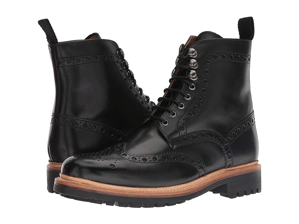 Grenson Fred Commando Sole Boot (Black Calf) Men