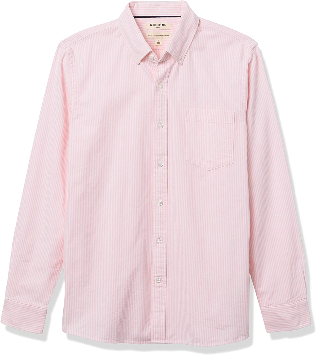 Amazon Brand - Goodthreads Men's Standard-Fit Long Sleeve Oxford Shirt with Pocket