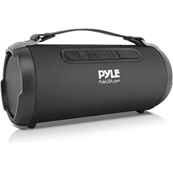 Wireless Portable Bluetooth Boombox Speaker - 9 Watt Rechargeable Boom  Box Speaker Portable Music Barrel Loud Stereo System with AUX Input,