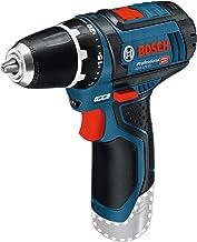 Bosch Professional Bosch GSR 12V-15 Professional-Atornillador batería ni Cargador (12V)/0601868101, 230 W, 12 V, Negro, Azul, Rojo, Plata