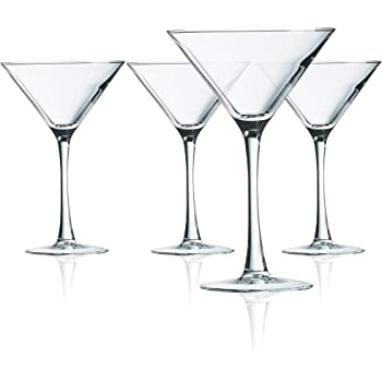 Arc International Luminarc 4 Piece Cachet Martini Glass Set, Set of 4, Clear