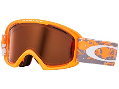 Oakley O Frame 2.0 XL (Arctic Fracture Orange w/ Persimmon/Dark Grey) Goggles