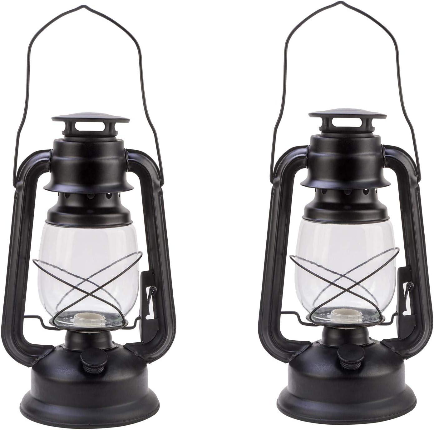 Portable Hurricane Lamp Metal Kerosene Lantern Oil Light Silver Retro Design