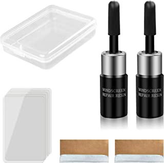 cobcobb Upgraded Automotive Glass Nano Repair Fluid Kit – 2 Bottles Premium Windshield Repair Resin Replenisher for Auto Glass Crack Crater Chip and Scratch Fixing