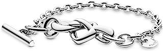 Pandora Women Cubic Zirconia PANDORA Knotted Heart Bracelet - 7.9 inches - 598100-20