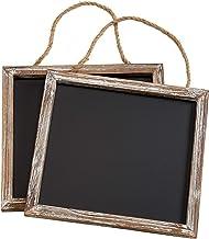 Barnyard Designs Rustic Distressed Wood Framed Wall Hanging Magnetic Chalkboard Sign - Decorative Display Board for Restau...