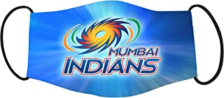 Vista IPL Team Mumbai Indians Mask -Cotton Reusable Washable Mask Size 20x13 cms with adjustable ear loops