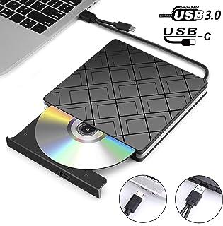 Lecteur CD/DVD Externe, MOSUO Lecteur Graveur Externe CD/DVD/-RW/ROM avec Interface USB..