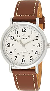 Timex Mens Quartz Watch, Analog Display And Leather Strap - TWG019100
