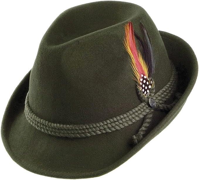 1930s Style Mens Hats and Caps Jaxon & James Tyrolean Hat - Green £35.95 AT vintagedancer.com