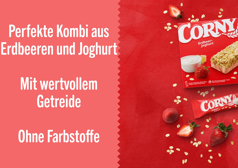 Corny Classic Erdbeer Joghurt, Müsliriegel, 8er Pack 8 x 8g ...