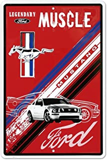 Ford Mustang Legendary Muscle Car Retro Vintage Tin Sign