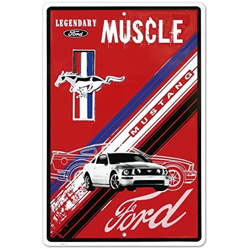 Shelby Ave Ford Mustang Embossed Metal Sign man cave vintage look.Sport Car