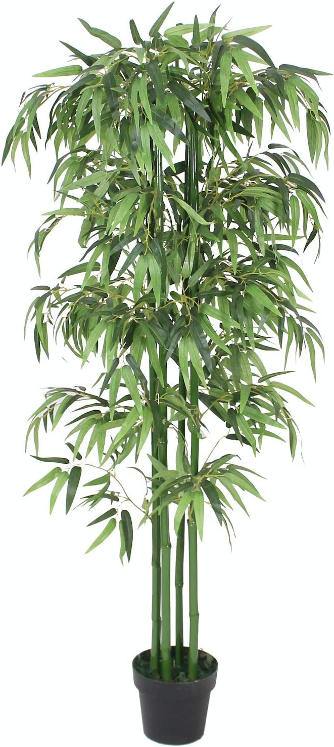 For Home Living Room Indoors 3ft Tall with Real Wood Trunk Tradala 3/' Lush Artificial Tree Bamboo 90cm