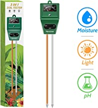 Kensizer Soil Tester, 3-in-1 Soil Moisture/Light/pH Meter, Gardening Tool kit for Plants..