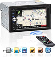 BOSS Audio Systems BV9384NV Navigation - Double Din, Bluetooth Audio and Calling, 6.2 Inch LCD Touchscreen Monitor, Built-in Microphone, MP3, CD DVD Player, WMA, USB SD Ports, AM FM Radio Receiver