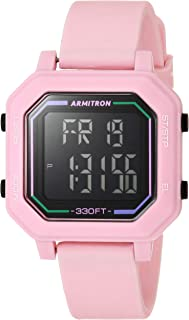Armitron Sport Women's Digital Chronograph Silicone Strap Watch, 45/7132