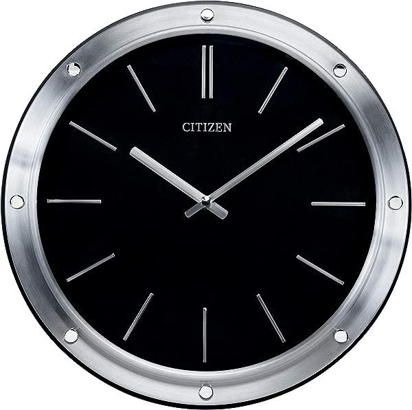 Citizen CC2001 Gallery Wall Clock Silver Tone