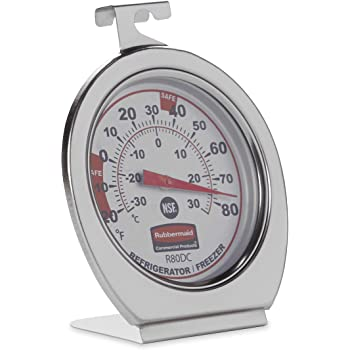 IN-172 TEMPERATURE LOG BOOK WITH FRIDGE FREEZER THERMOMETER WITH CLIPS