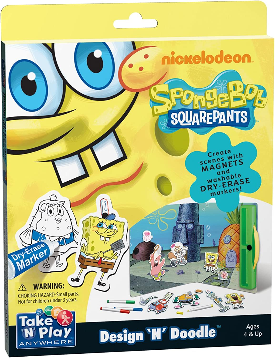 SpongeBob SquarePants Take N Play Anywhere Design 'N' Doodle Kit Patch Products 647