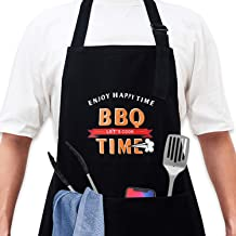 Eyark 2 Pack - Funny Aprons for Men, Cooking Apron with 2 Pockets, One Size Fits All, Premium Quality Mens Apron Birthday ...