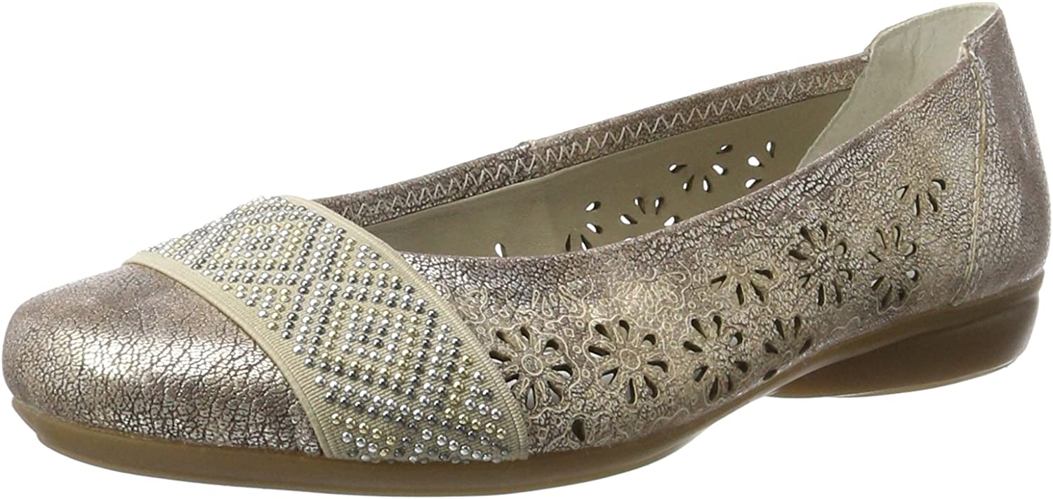 Rieker Women's Perforated Pump Slip on shoes (L8357-31)