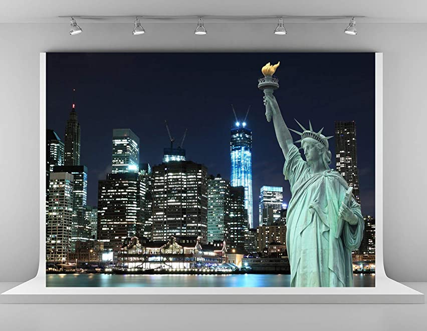 Kate 10x6.5ft New York City Backdrops for Photography USA Statue of Liberty Photo Background