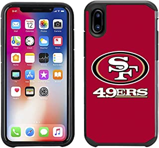 Prime Brands Group Cell Phone Case for Apple iPhone X - NFL Licensed San Francisco 49ers Textured Solid Color